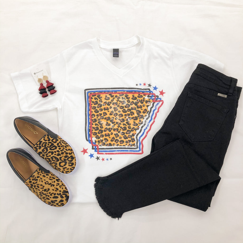 Arkansas Leopard Graphic Tee