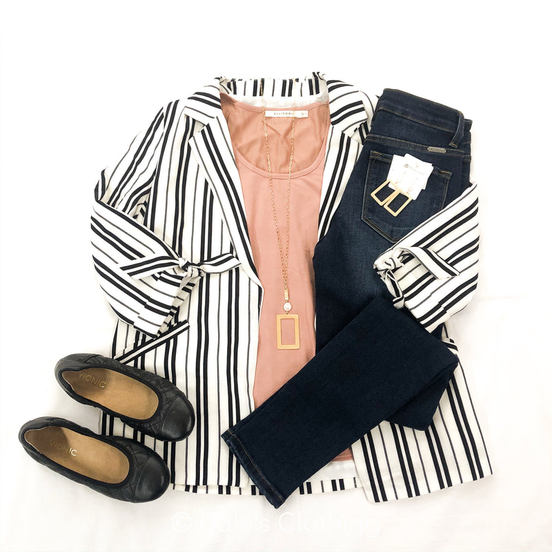 Leave it Fab Striped Blazer