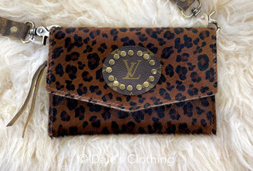 Brown Cheetah Upcycled LV