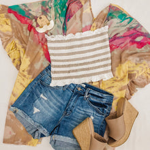 Smock it To Me Crop Top Striped