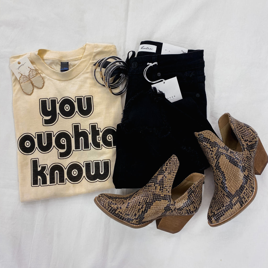 You Oughta Know Graphic Tee