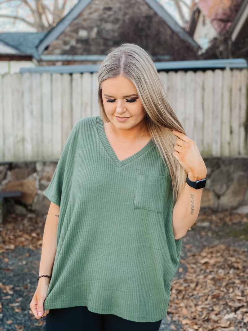 Simple Made Easy Olive Top