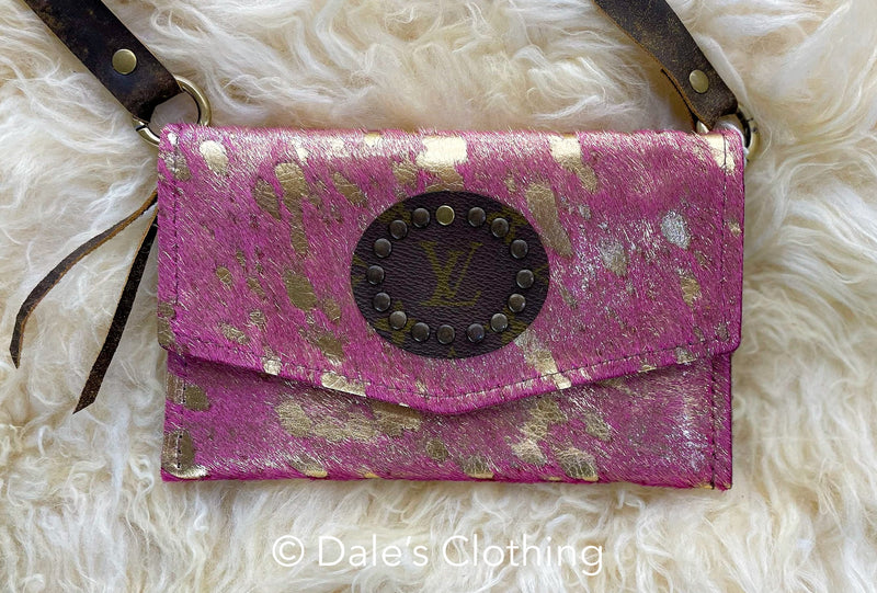 Pink and Gold Upcycled LV