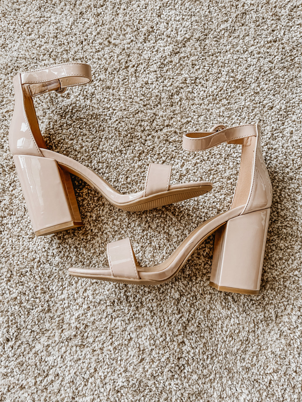The Nude One Strap Heel