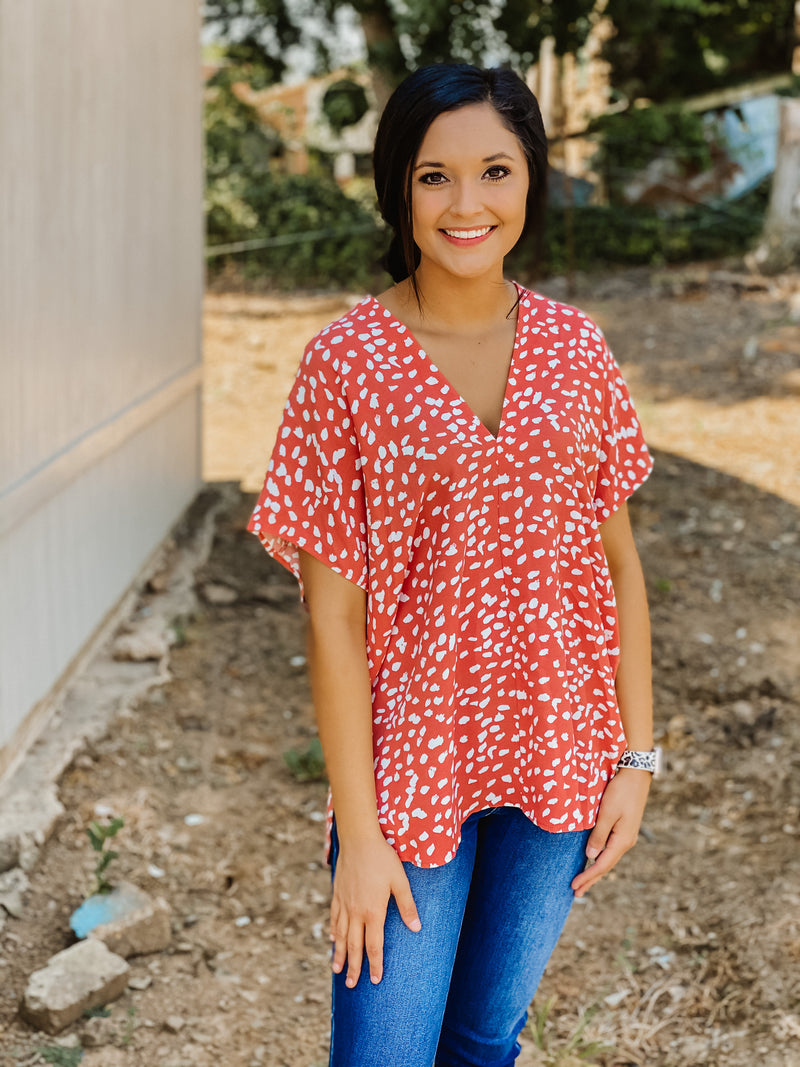 Get Obsessed Dalmatian Top ROSE/PK