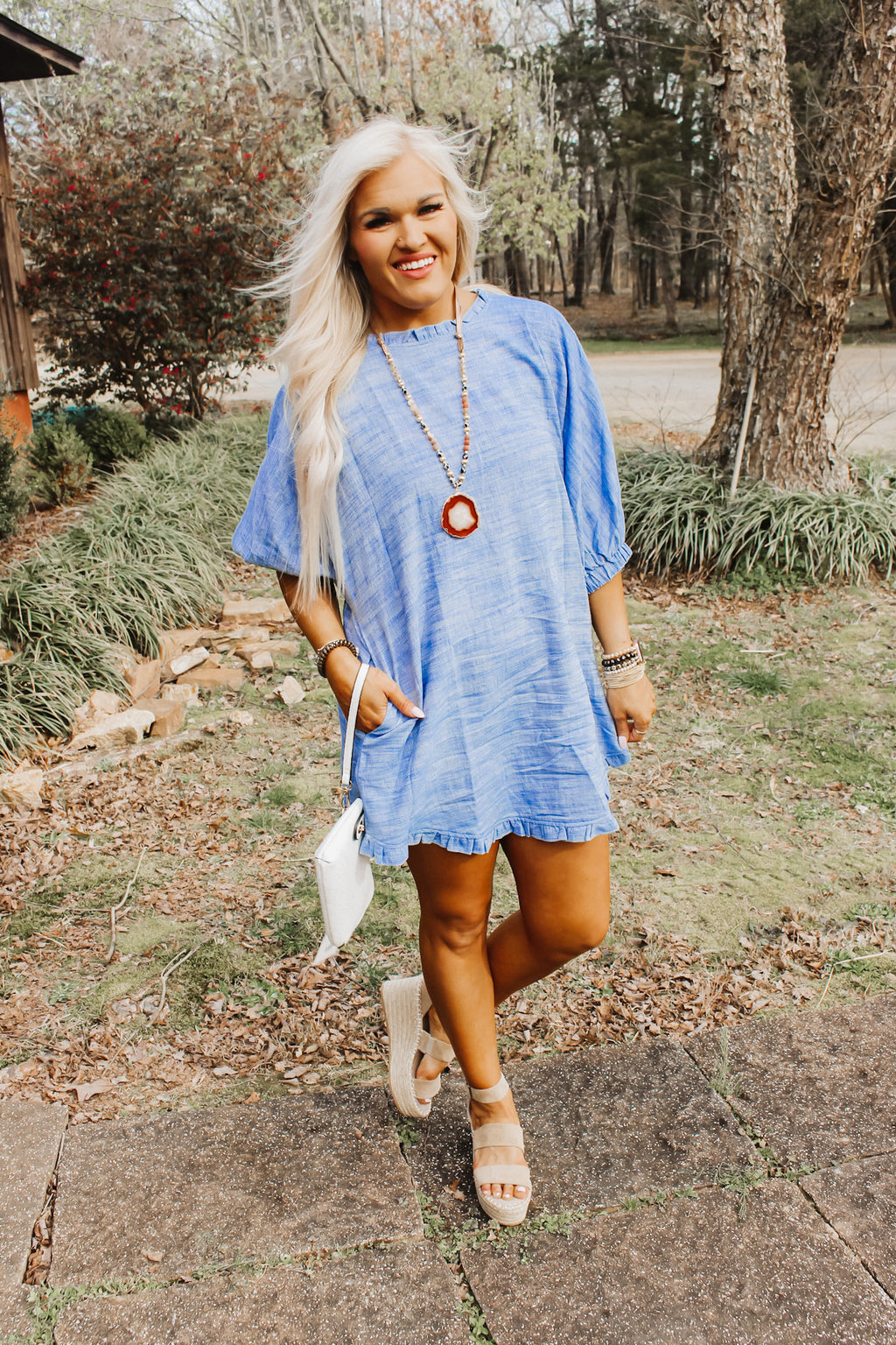 Fun Days Ahead Denim Dress