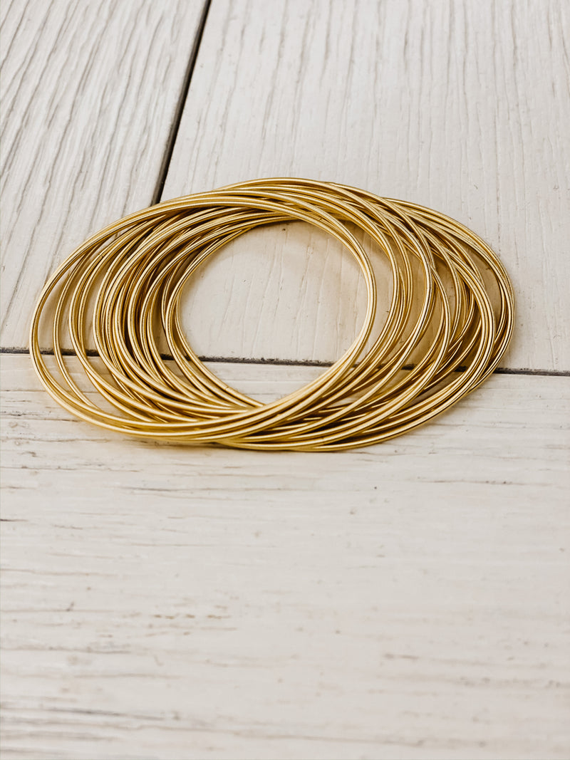 Bella Gold Guitar String Bracelets