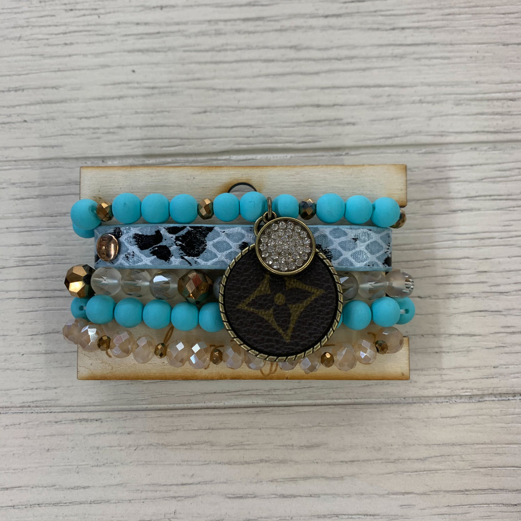 Upcycled Louis Vuitton Bracelets TEALSNAKE
