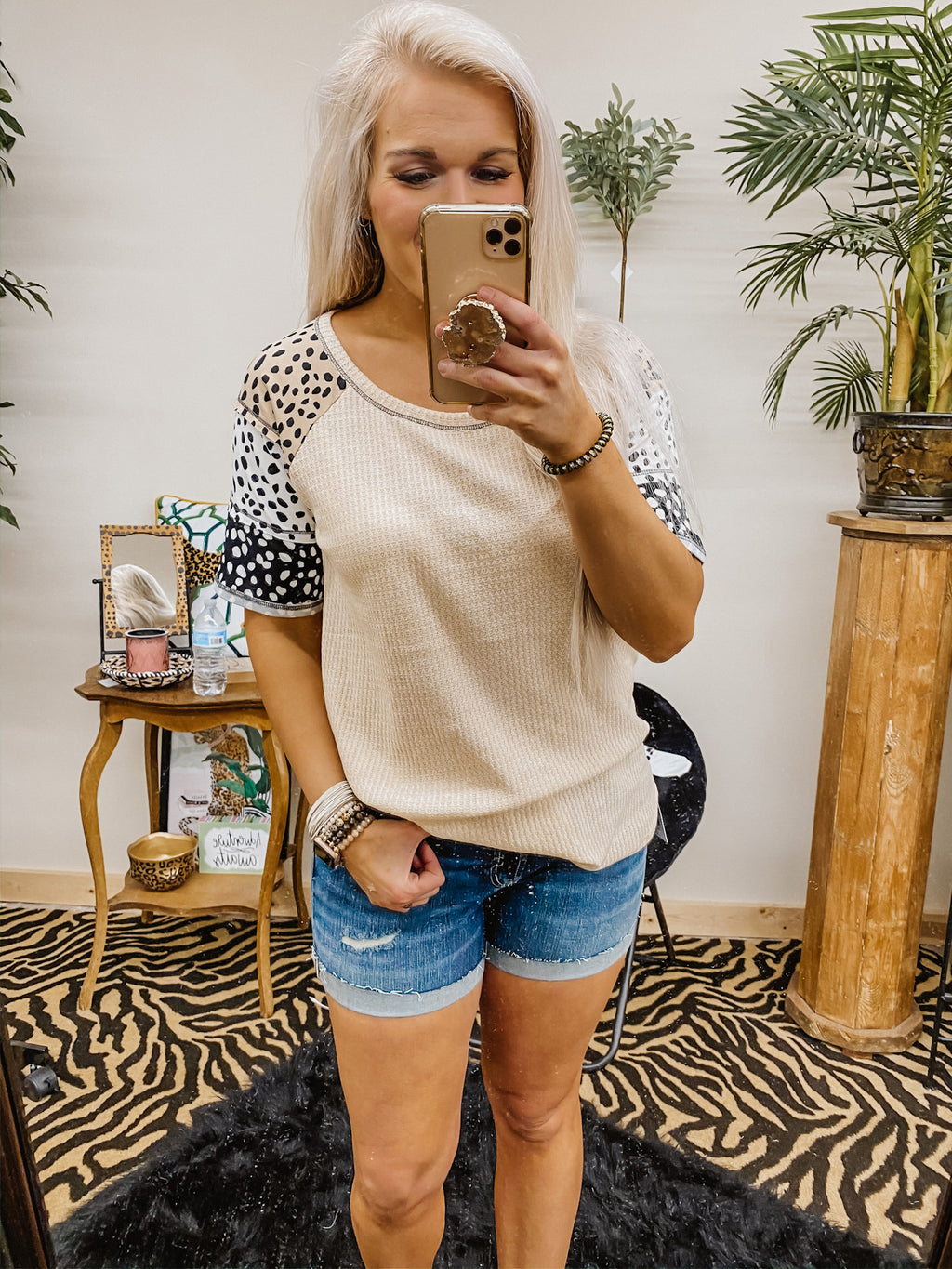 Steal My Thunder Leopard Top