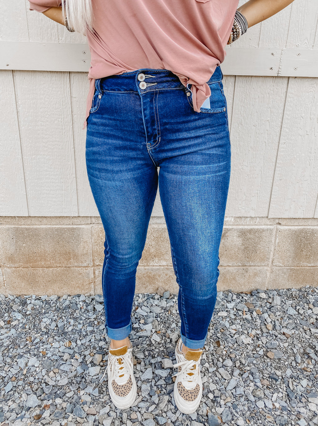 The Belle Double Button Kancan Skinny Jean