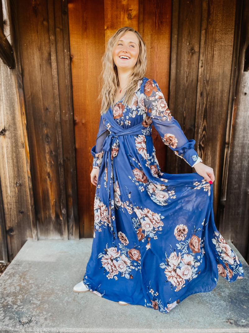 Curious About You Floral Maxi Dress