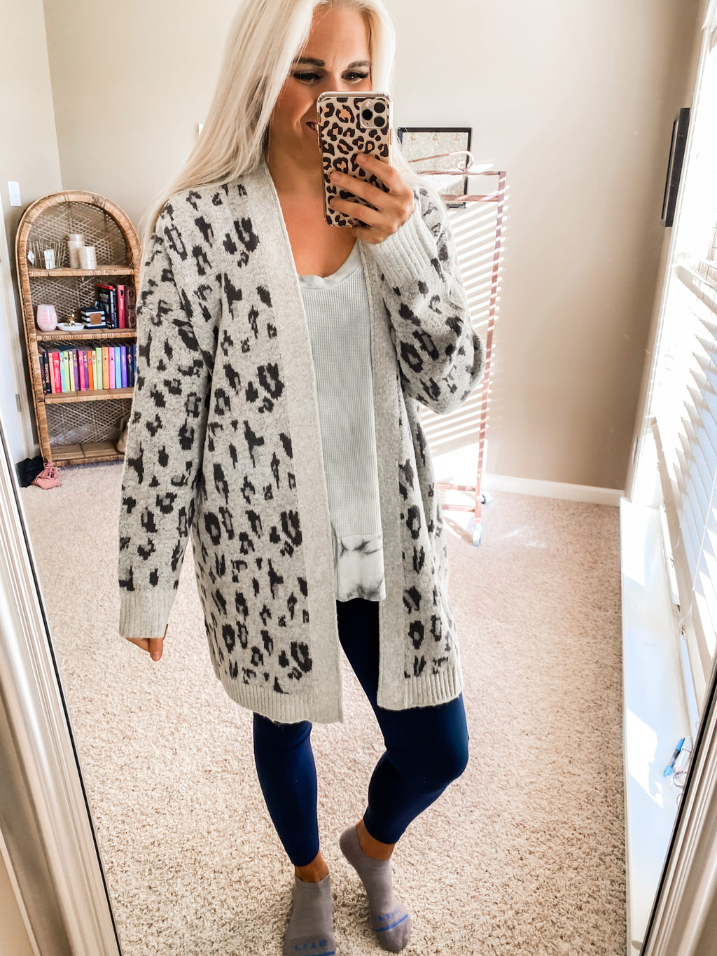 Her Feisty Side Leopard Cardigan H GREY