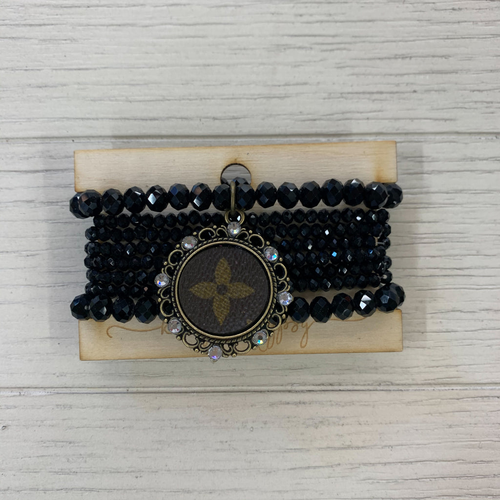 Upcycled Louis Vuitton Bracelets BLACK