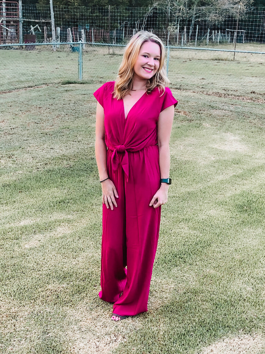 Glam Gal Berry Jumpsuit