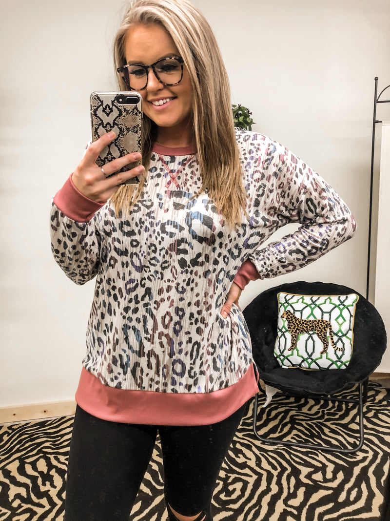 Better Than Ever Leopard Top PURPLE