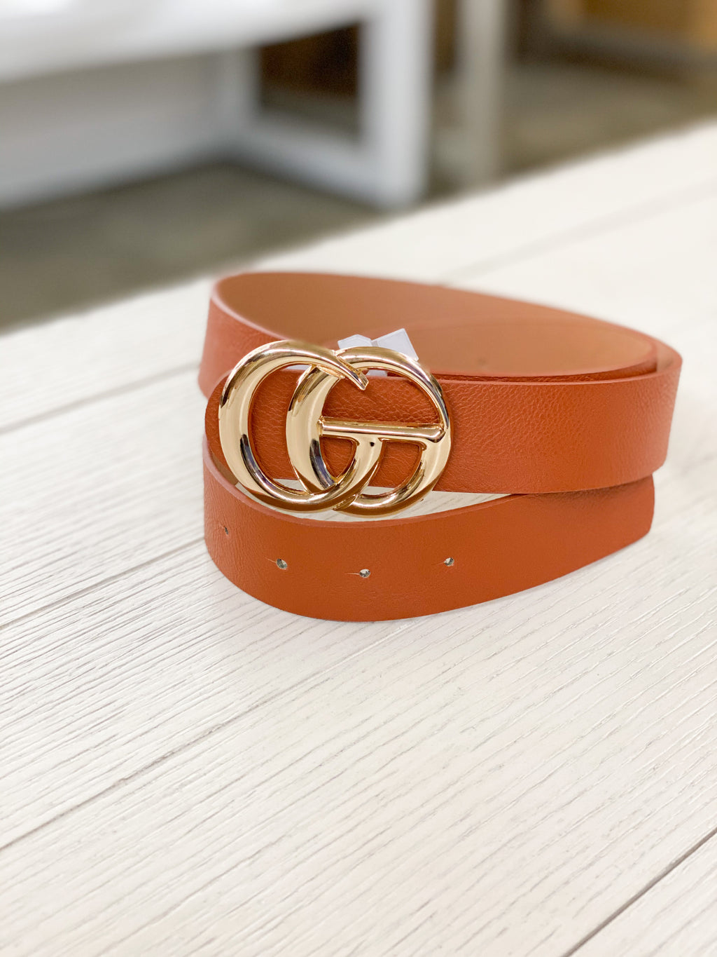 The Gucci Inspired Belt Brown