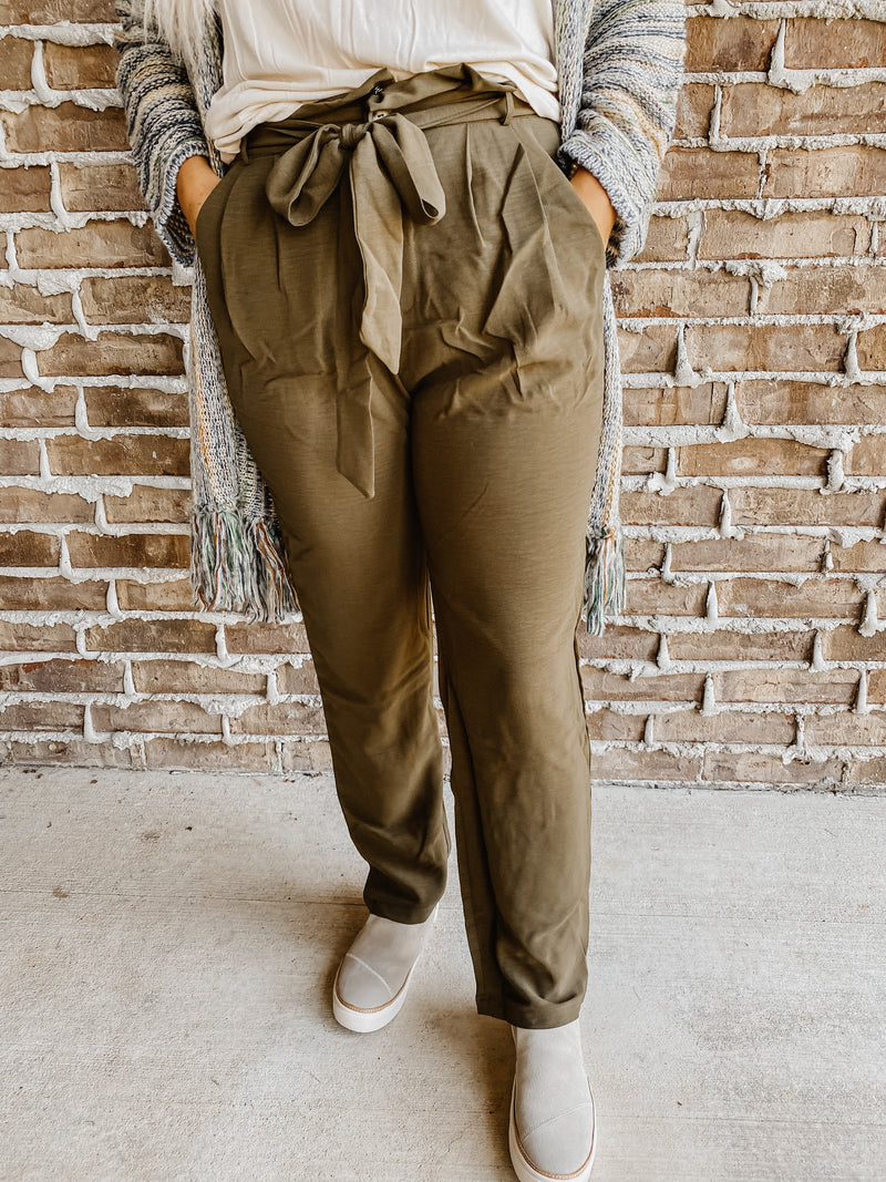 Back to Work Dress Pants Olive
