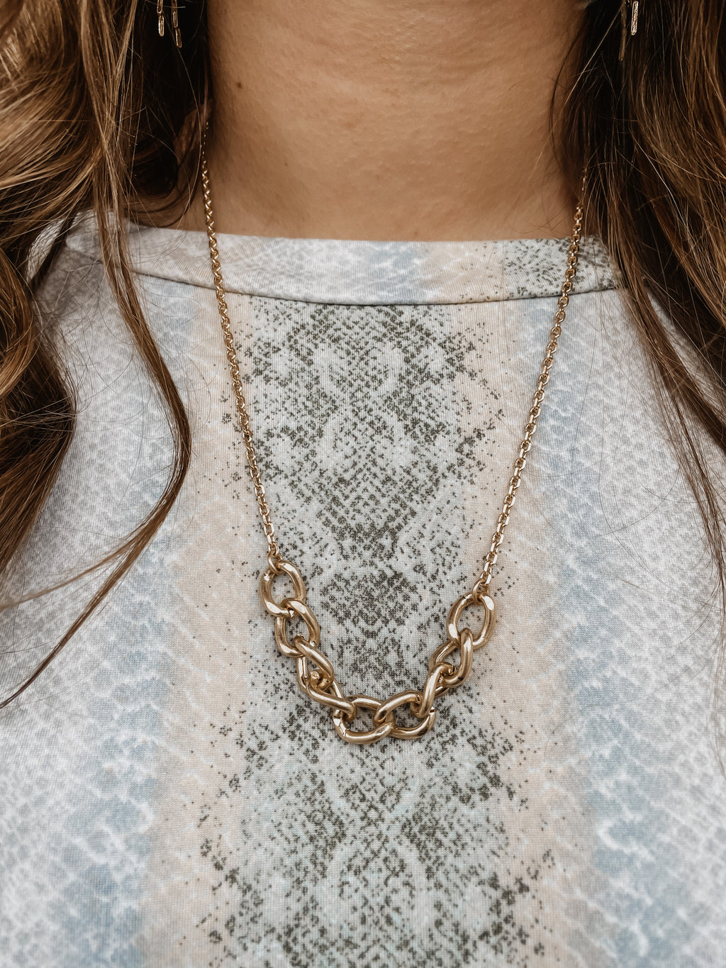 Chain Link Necklace Gold