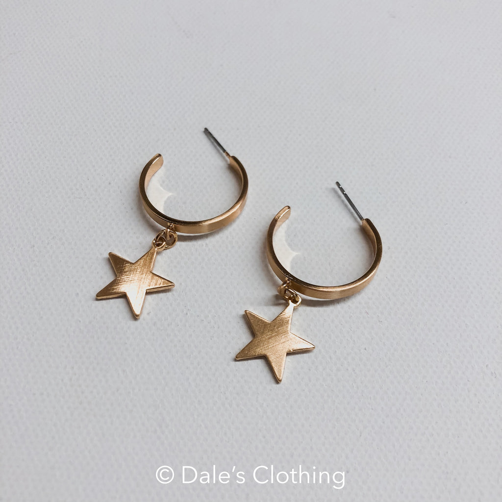 Gold Hoop with Star