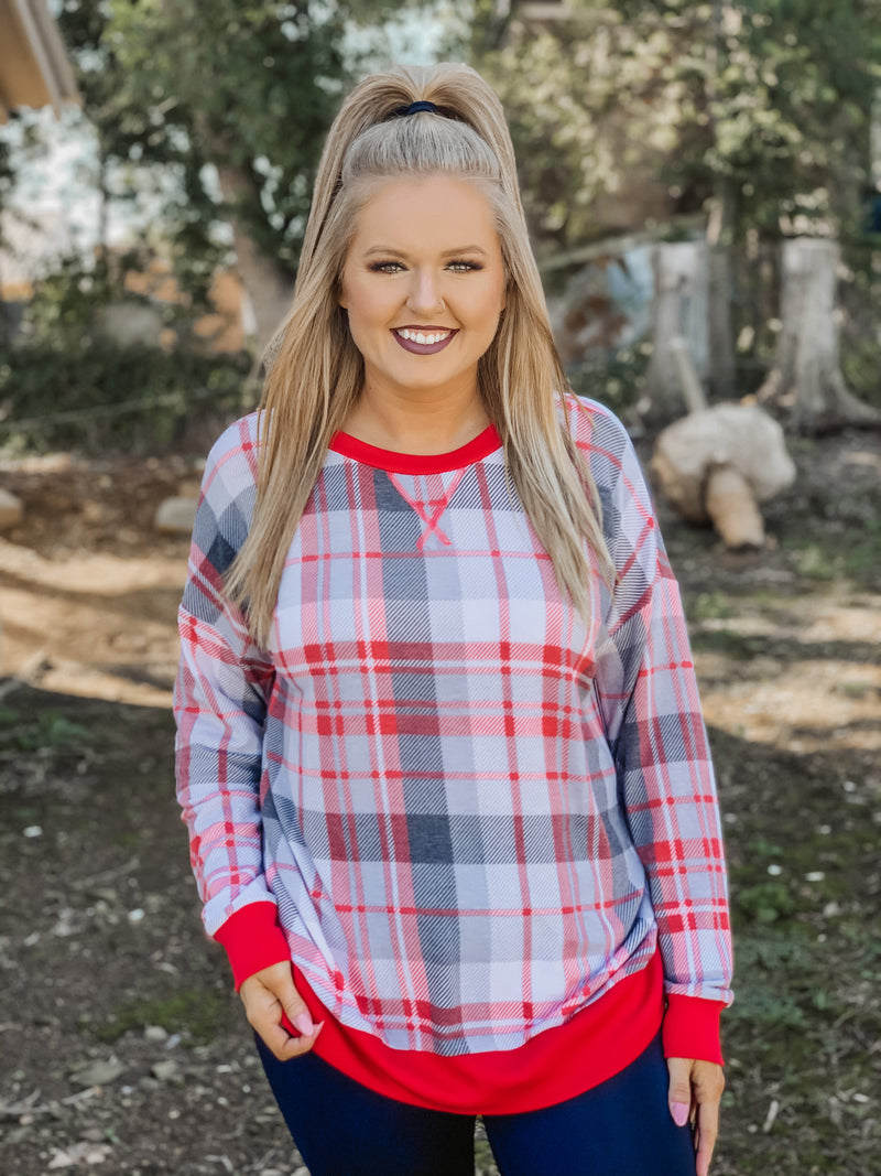 Plaid to Meet You Sweatshirt