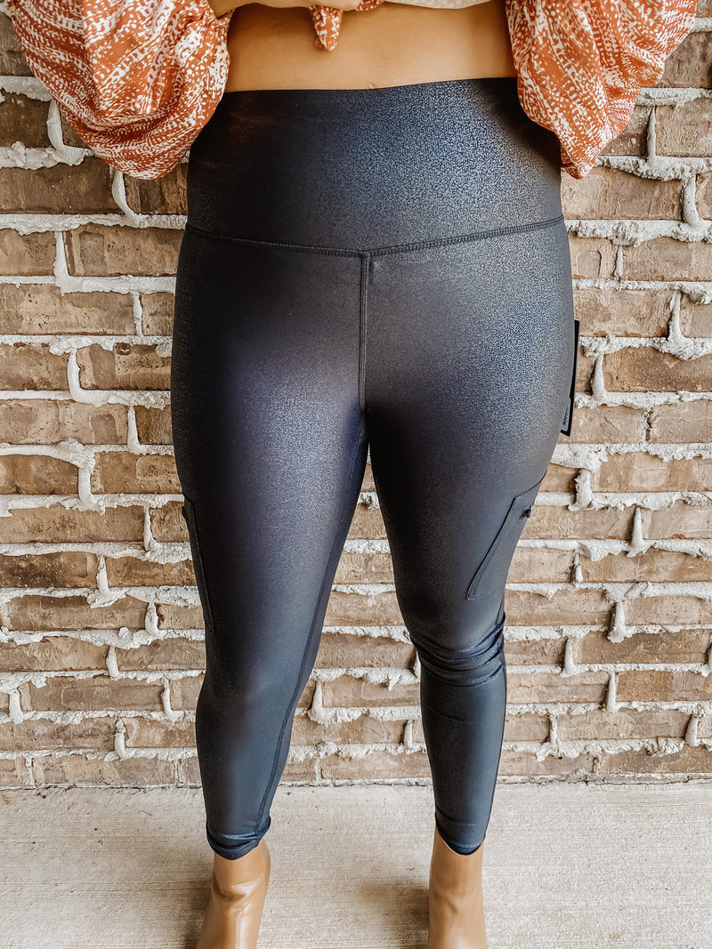 The One You Need Faux Leather Legging W/ Pockets