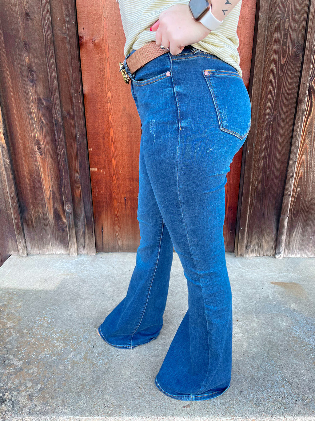 The Khloe Flare Jean By Judy Blue