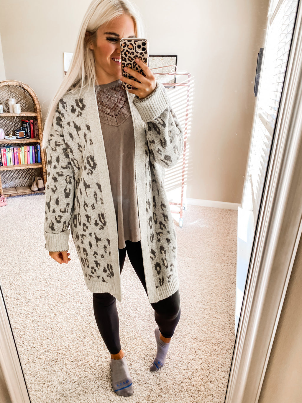 Her Feisty Side Leopard Cardigan OATMEAL