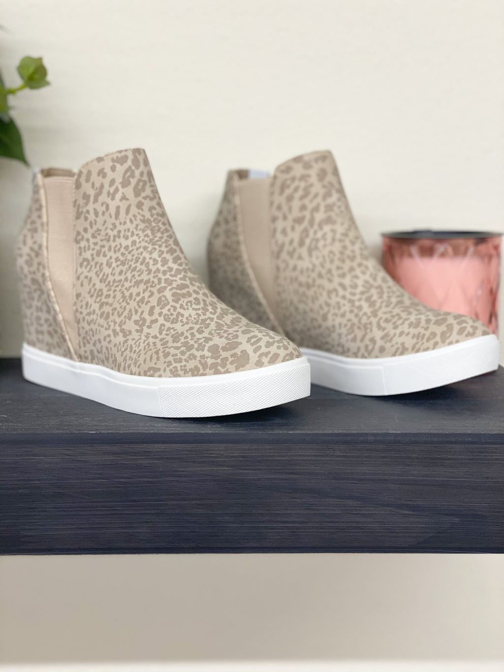 Lure Leopard Wedge Bootie By Matisse TAUPE