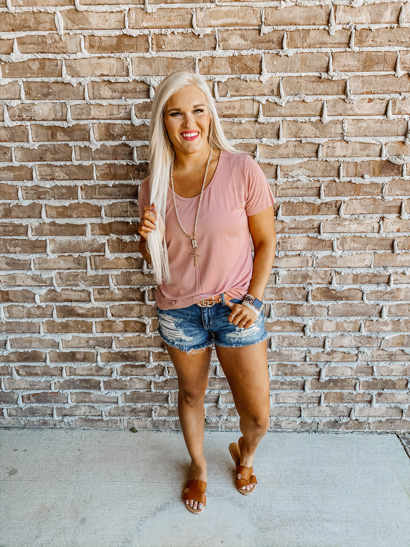 Basic Blush Short Sleeve Tee