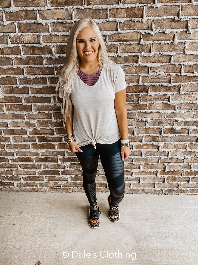 Touch of Leather Moto Leggings