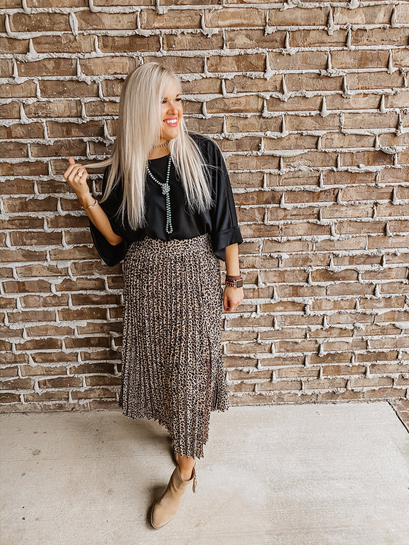Living the Dream Leopard Maxi Skirt