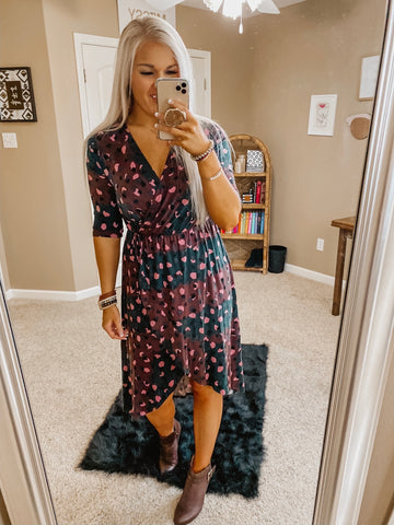 One of The Good Ones Spotted Midi Dress
