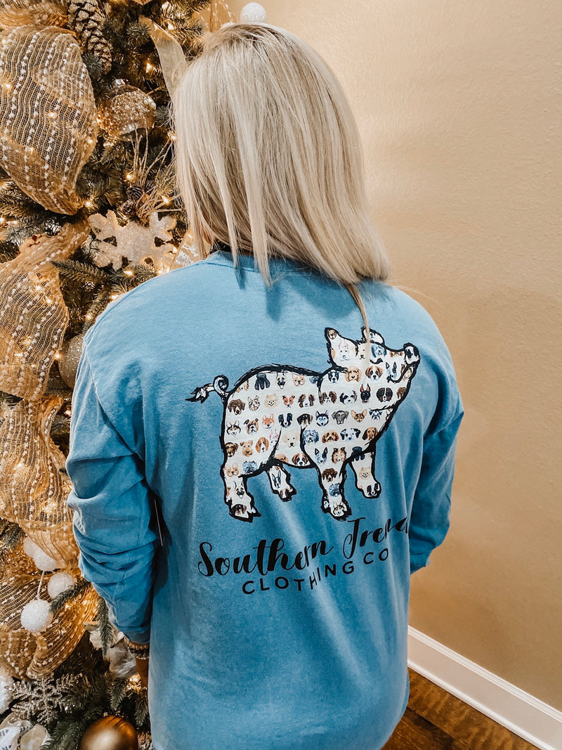 Southern Trend Dog Pig Tee
