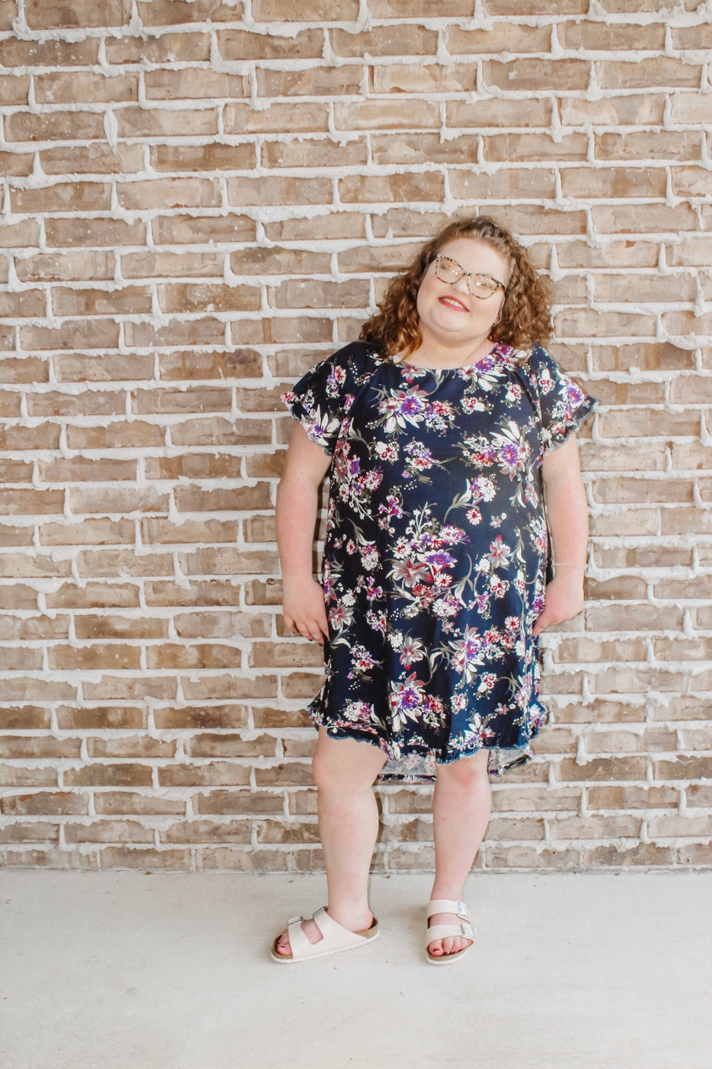 Fall Breeze Floral Dress PLUS