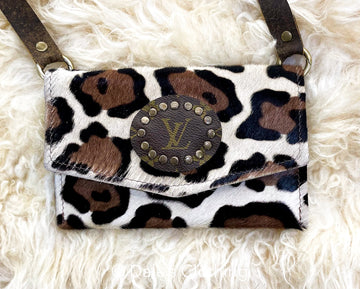 White Cheetah Upcycled LV