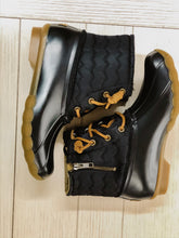 Sperry Saltwater Quilted Chevron Duck Boot BLACK