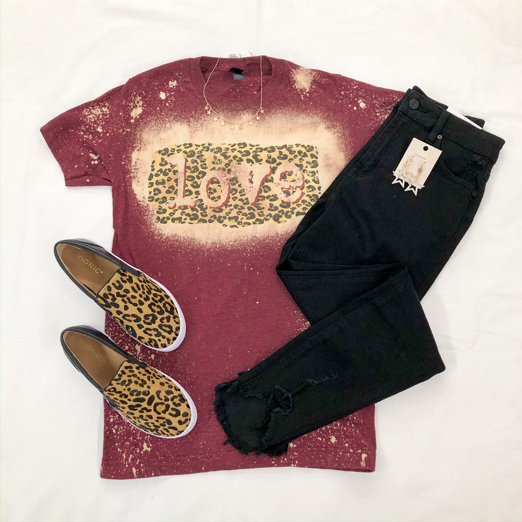 Love & Cheetah Graphic Tee