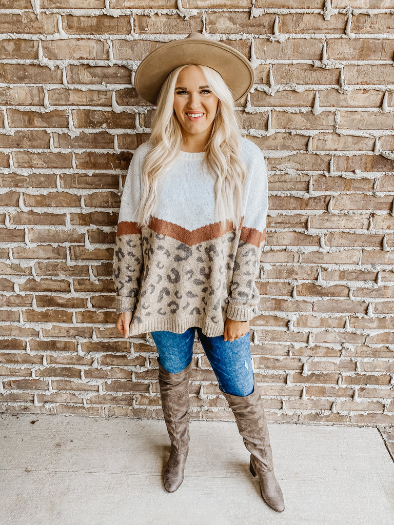 Running In Circles Leopard Sweater