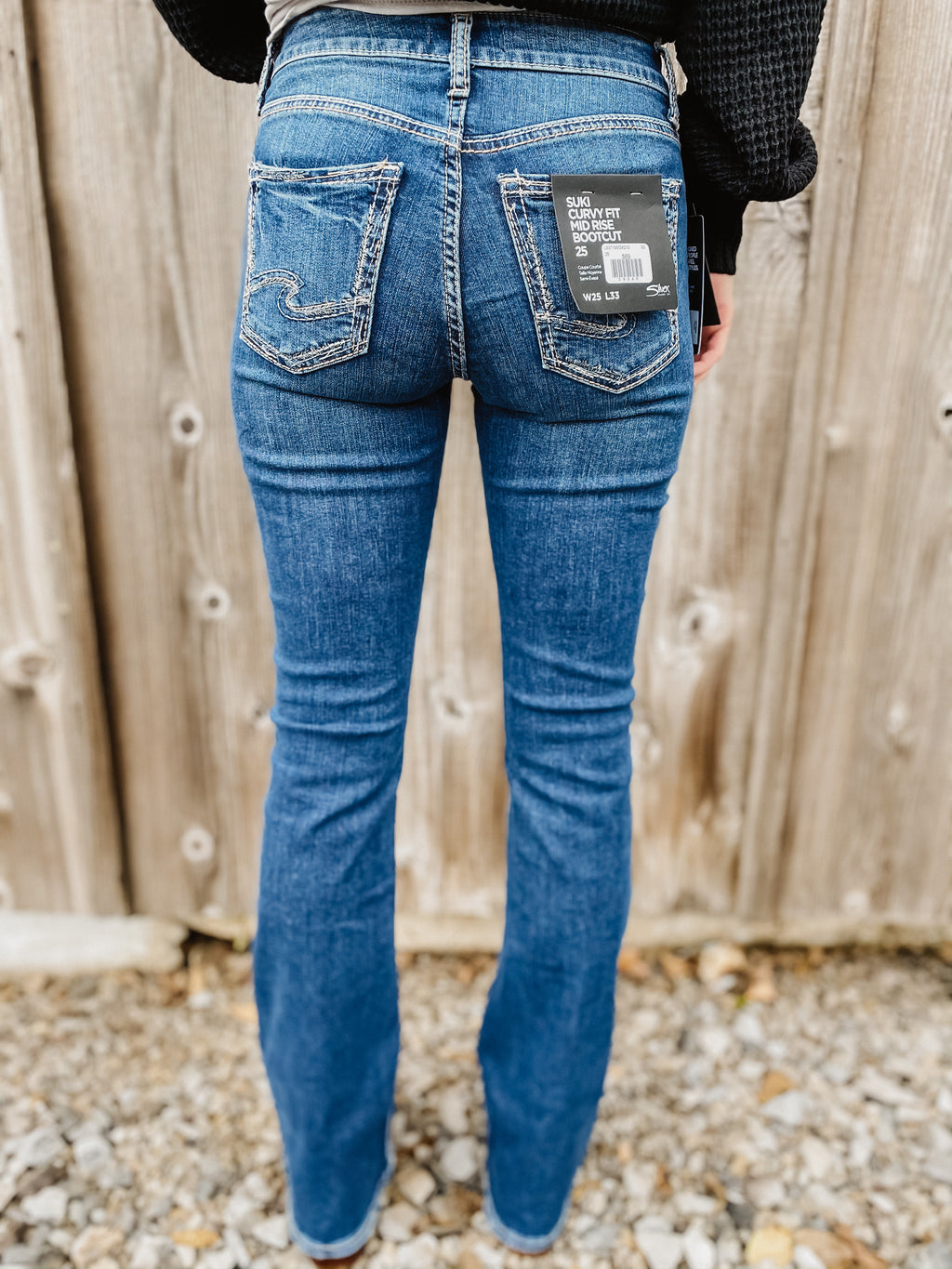 Suki Curvy Fit Mid Rise Bootcut By Silver 33""
