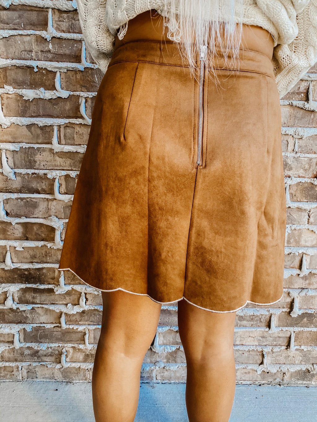 Chic All Week Suede Skirt CAMEL