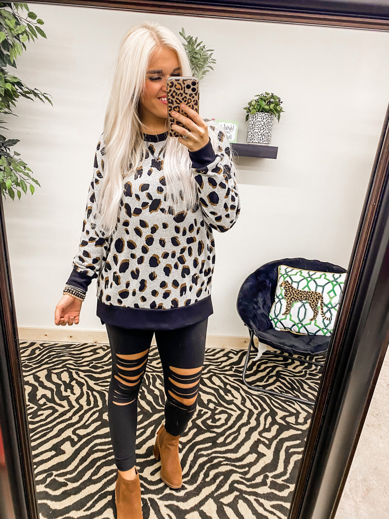 News to You Leopard Sweatshirt