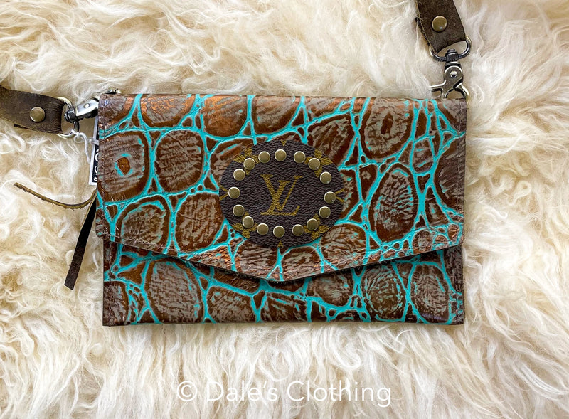 Teal Rustic Upcycled LV