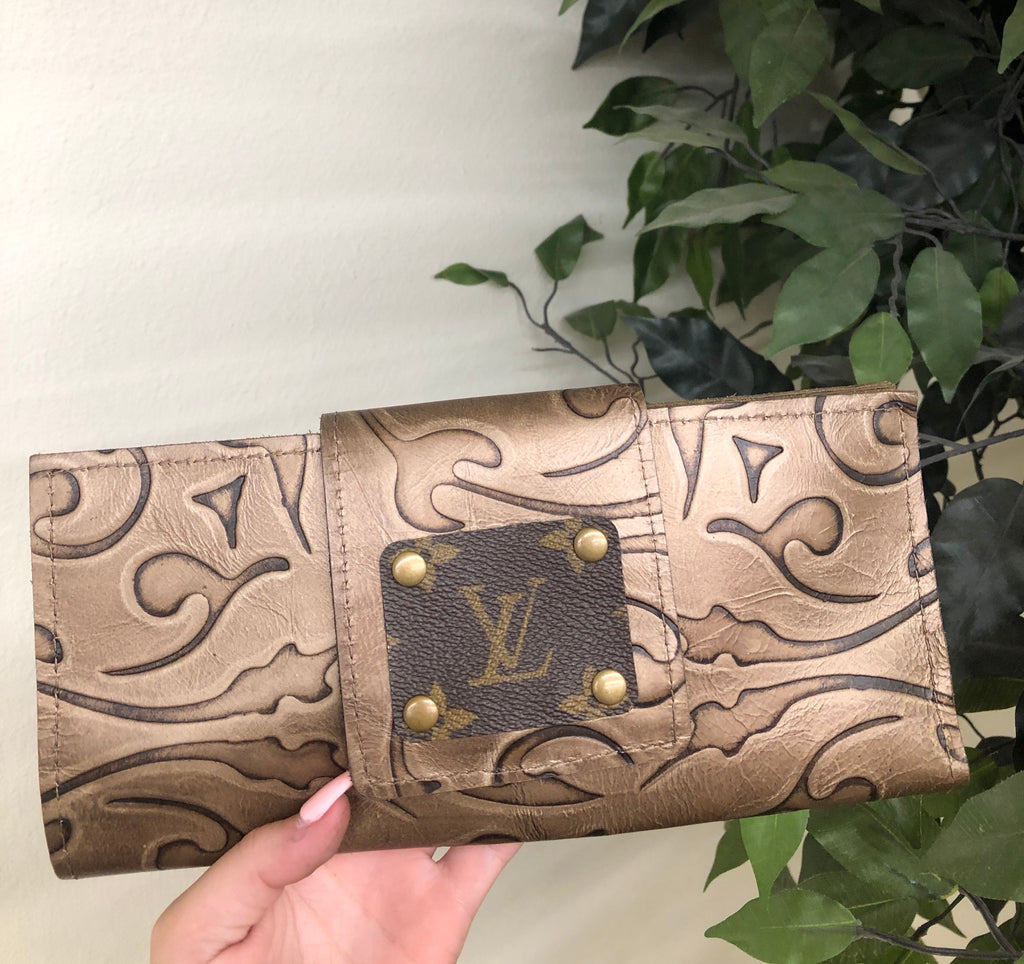 Brown Tool LV Upcycled Wallet