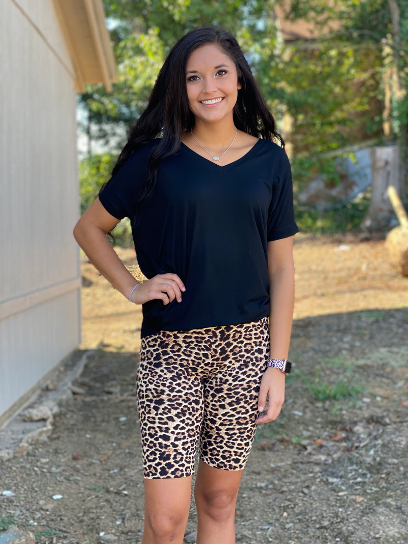 The Dark Leopard Biker Short