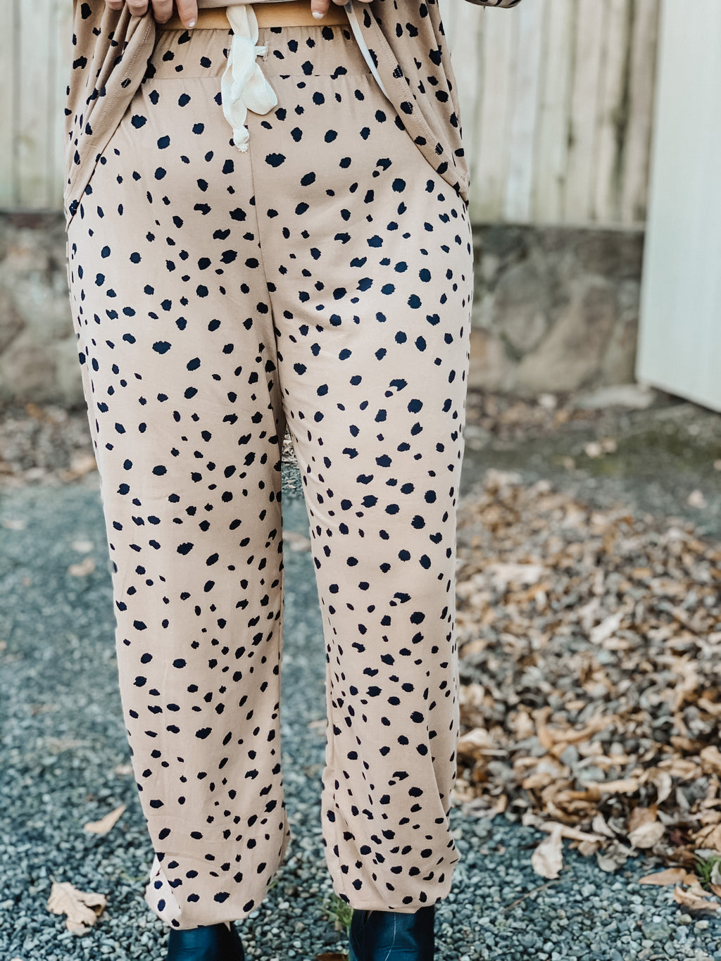 Just Kick Back Dalmatian Joggers