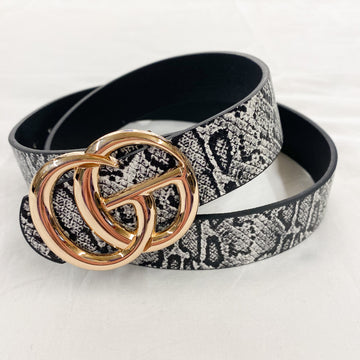 The Latest Trend Snake Belt Black