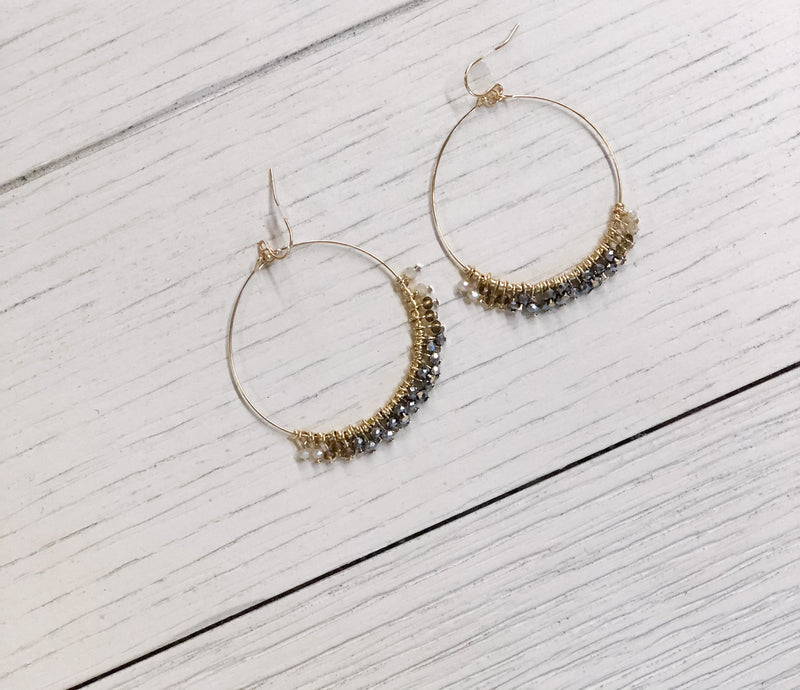 See the Signs Beaded Hoop Earrings