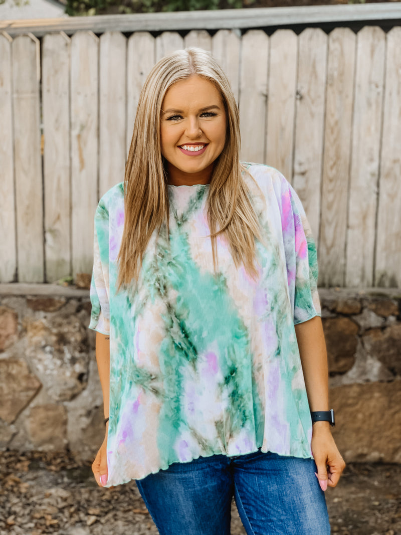 Almost Maybes Tie Dye Top ONE SIZE