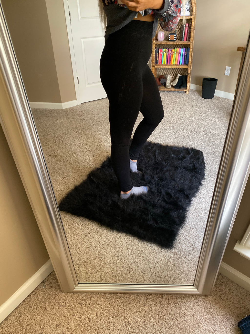 The High Rise Fleece Legging Black PLUS OS