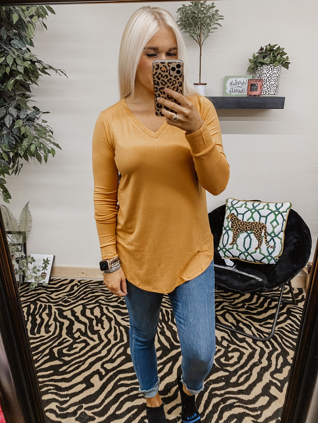 The Everyday Basic Top ASH MUSTARD